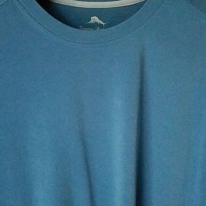 XL Tommy Bahama Shirt Blue Tres Grande 100% Silk